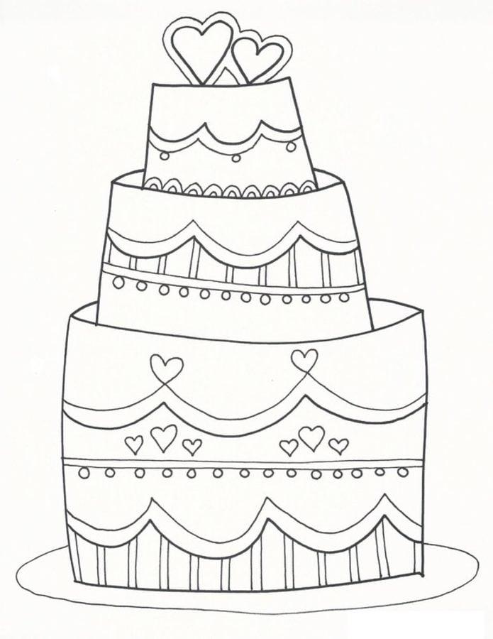 Ausmalbilder Ausmalbilder Hochzeitstorte Zum Ausdrucken