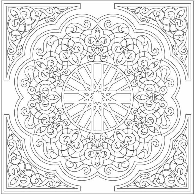 coloring pages islamic patterns meaning - photo#5