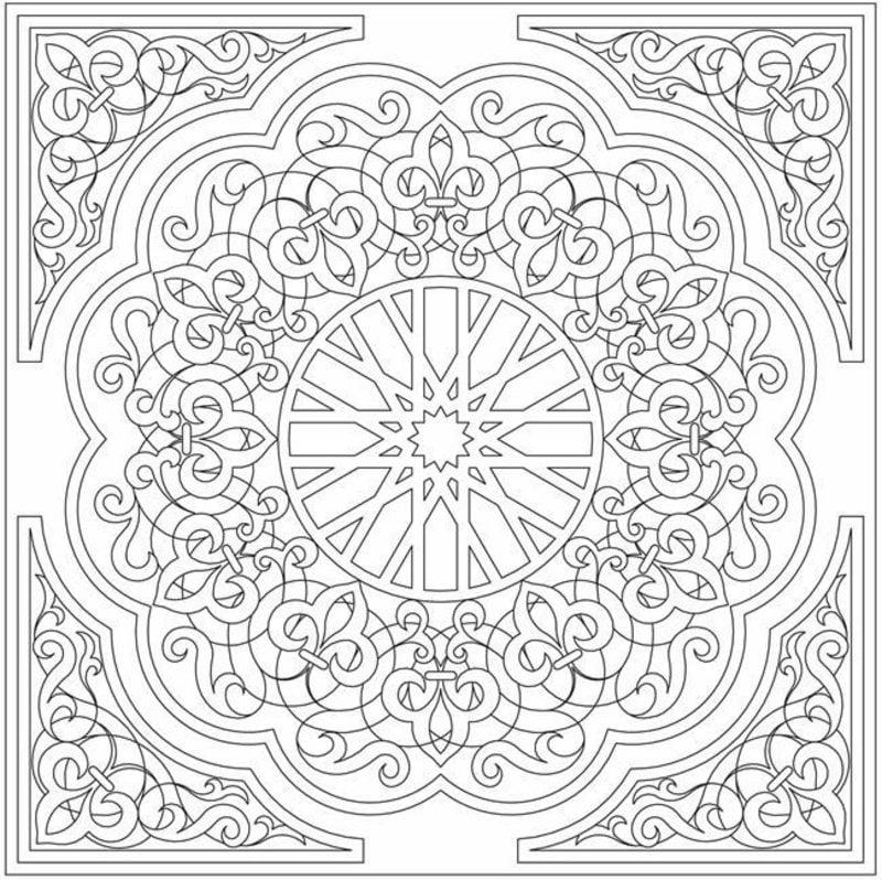 Dibujos para colorear para adultos: Arabesco imprimible, gratis, JPG ...