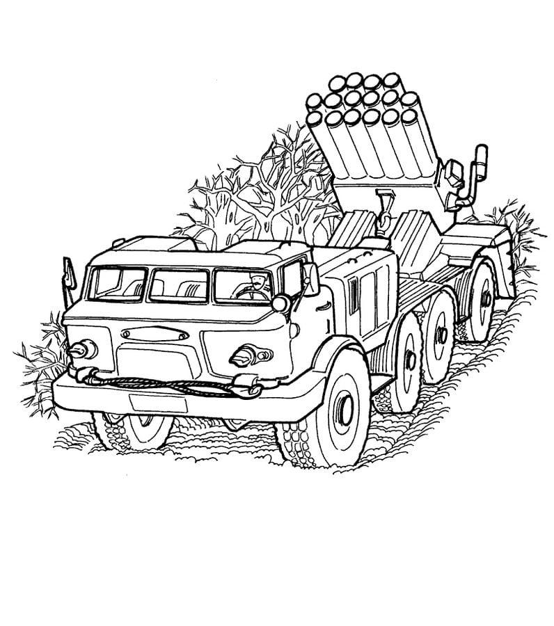 Ausmalbilder: Armee LKW zum ausdrucken, kostenlos, für Kinder und ...