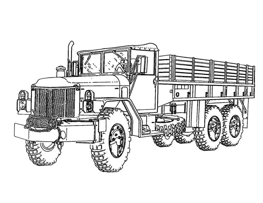 Wozy wojskowe Kolorowanki Transport
