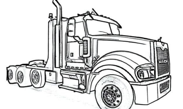 Ausmalbilder: Lastkraftwagen