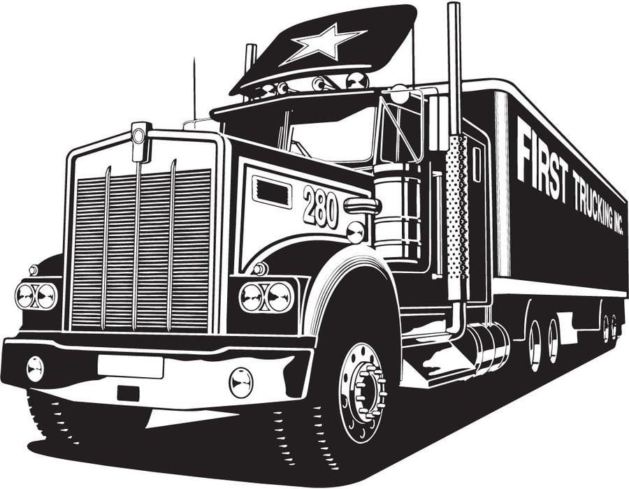 Duże ciężarówki Kolorowanki Transport
