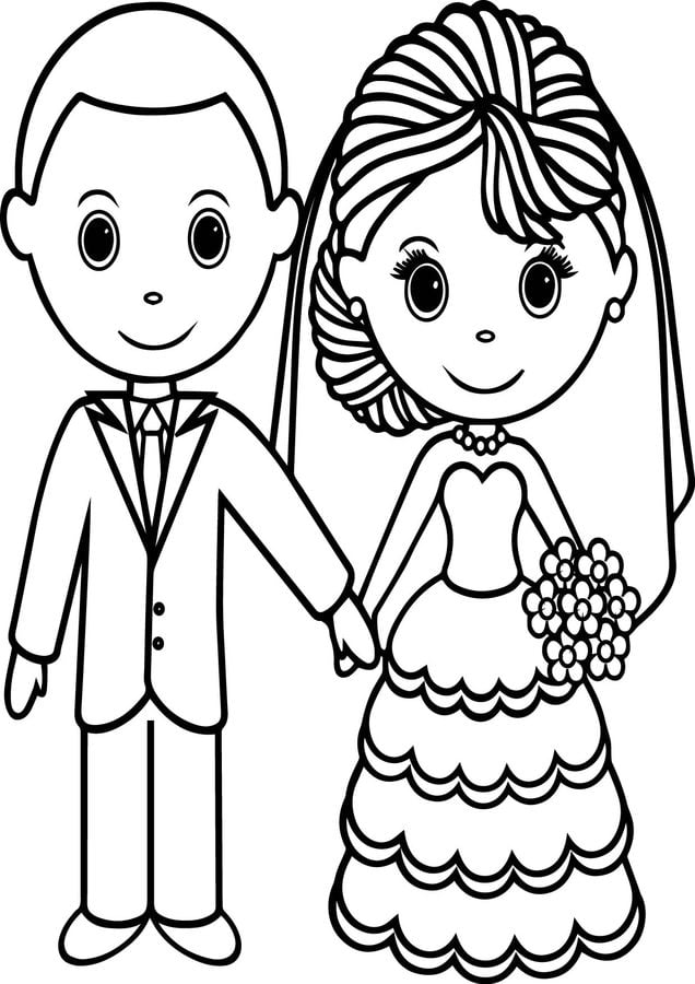 coloring pages coloring pages bride and groom printable
