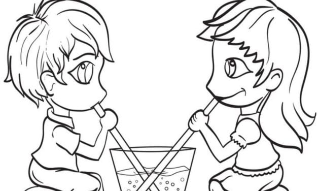 Coloring pages: Couple