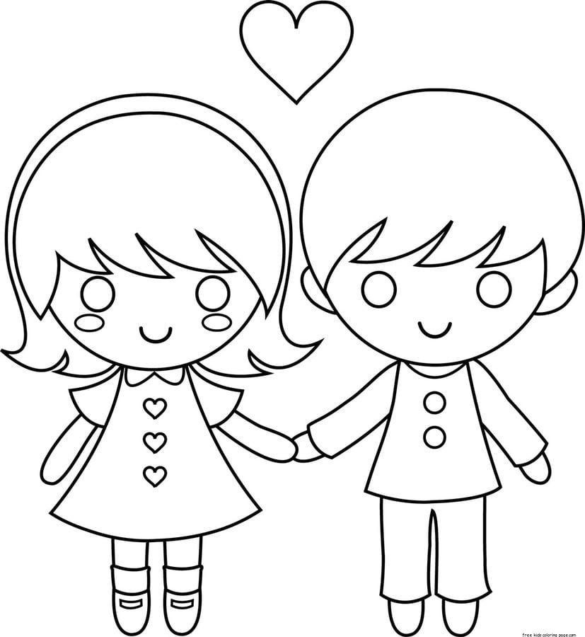 Kolorowanki Komiksy Do Druku Za Darmo Dla Dzieci I: Kolorowanki: Kolorowanki: Zakochana Para Do Druku Dla