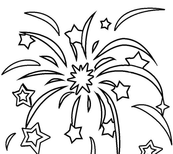Ausmalbilder: Feuerwerk