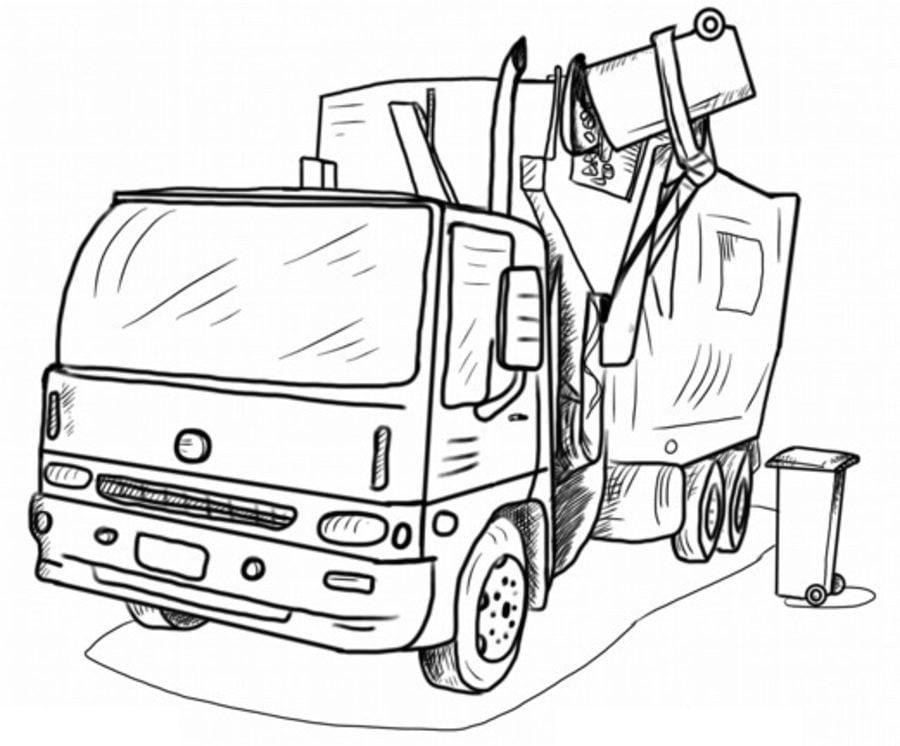 того картинки мусоровозов раскраски обрамленная