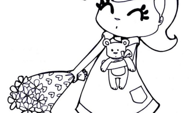 Coloring pages: Girl