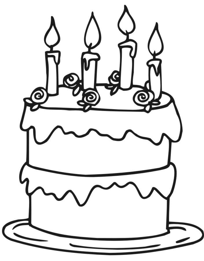ausmalbilder: ausmalbilder: torte zum ausdrucken