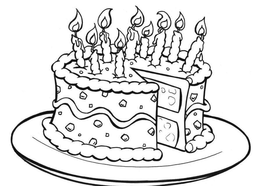 Torta Compleanno 6 Anni Da Colorare Free Downloads