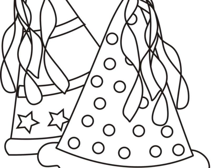 Ausmalbilder: Partyhüte