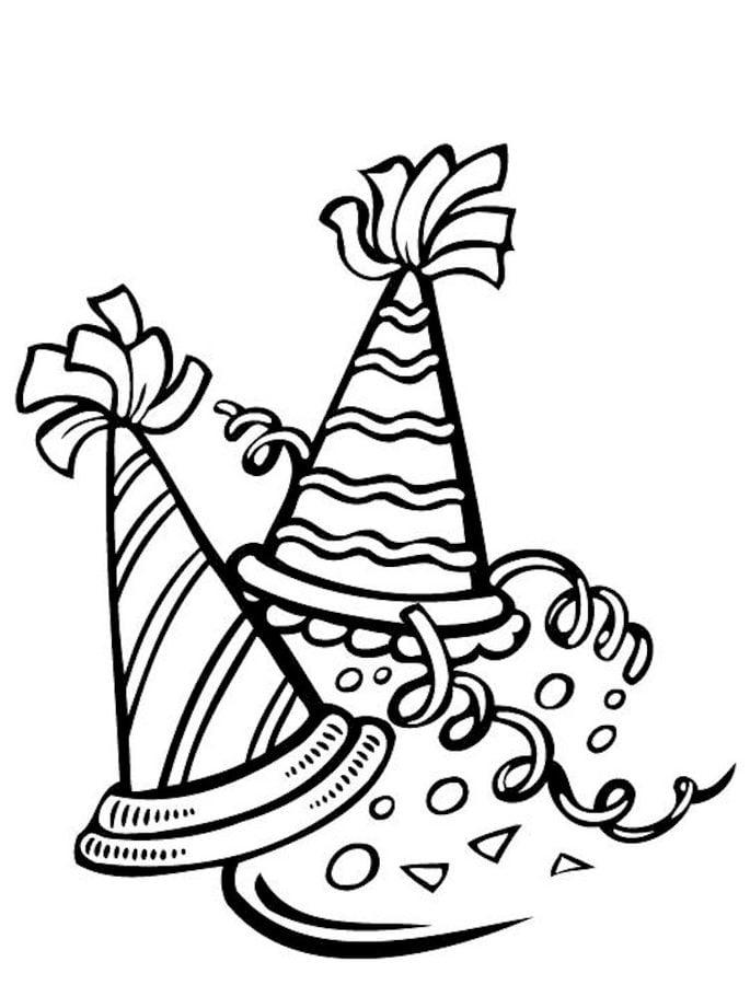 ausmalbilder ausmalbilder partyhüte zum ausdrucken