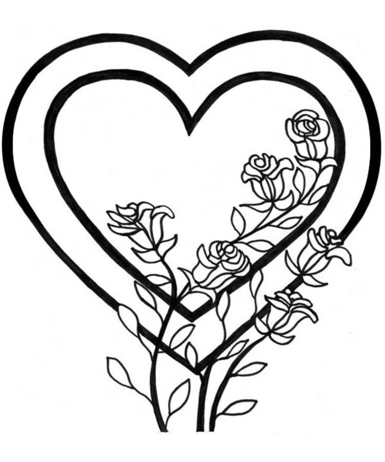 Ungewöhnlich Herz Malvorlagen Für Valentinstag Bilder - Framing ...
