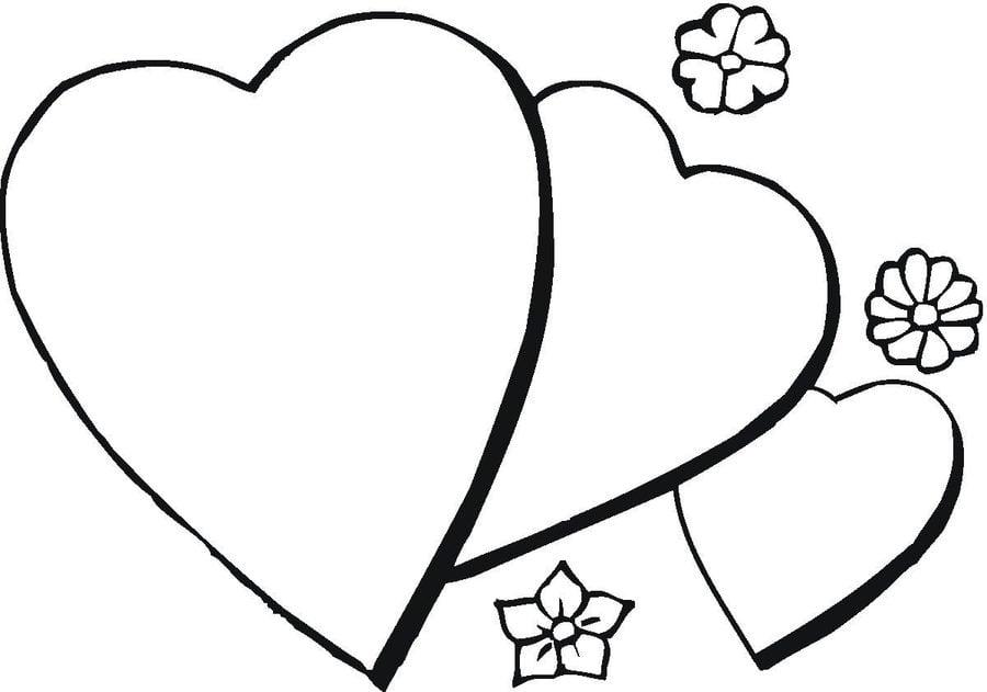 Ausmalbilder: Herz zum ausdrucken, kostenlos, für Kinder und Erwachsene