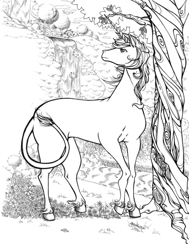 realalistic fantasy coloring pages - photo#8