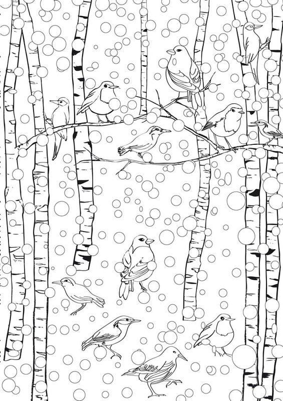 ausmalbilder für erwachsene winter zum ausdrucken