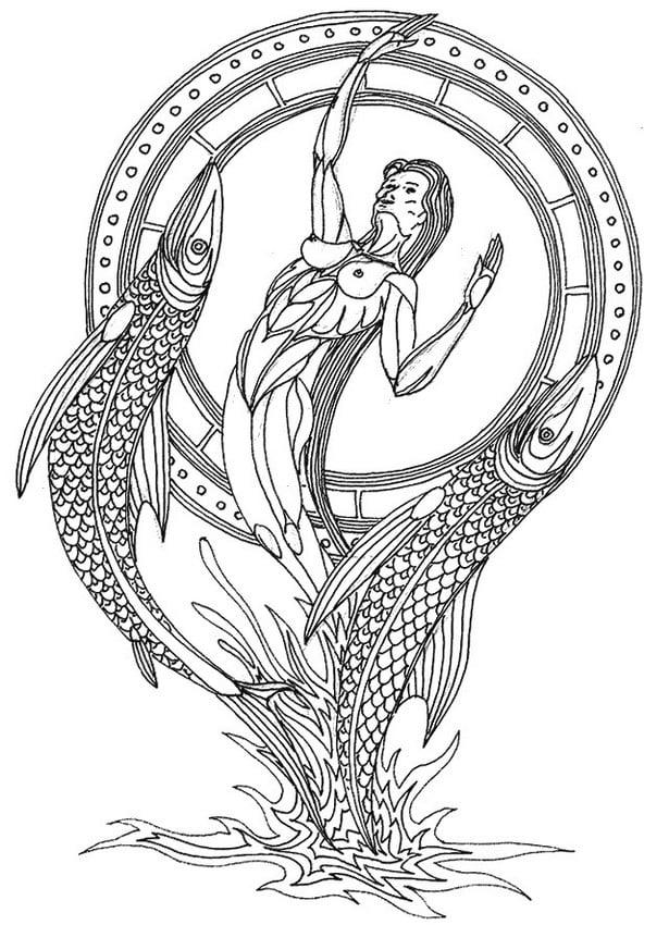 Dibujos para colorear para adultos Signos del zodiaco