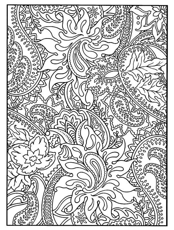 Dibujos para colorear para adultos: Flores imprimible, gratis, JPG, PDF