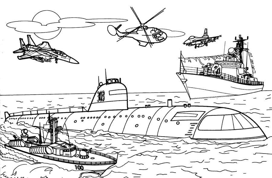 Ausmalbilder: Ausmalbilder: U-Boot zum ausdrucken ...