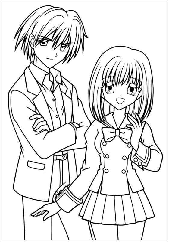 ausmalbilder anime manga | kinder ausmalbilder