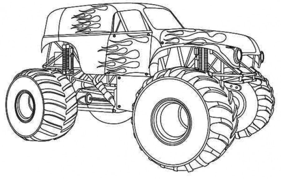 Disegni da colorare disegni da colorare monster truck - Pagina da colorare di monster truck ...