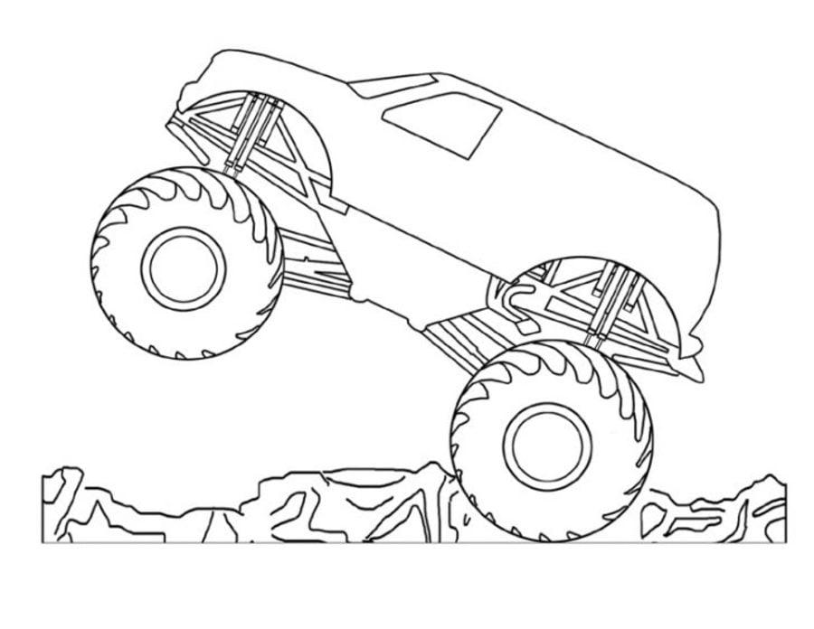 Ausmalbilder: Monstertruck zum ausdrucken, kostenlos, für Kinder und ...