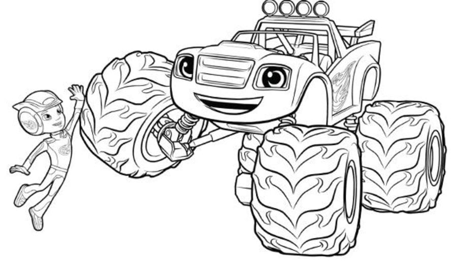 Ausmalbilder ausmalbilder monstertruck zum ausdrucken for Cartoni blaze