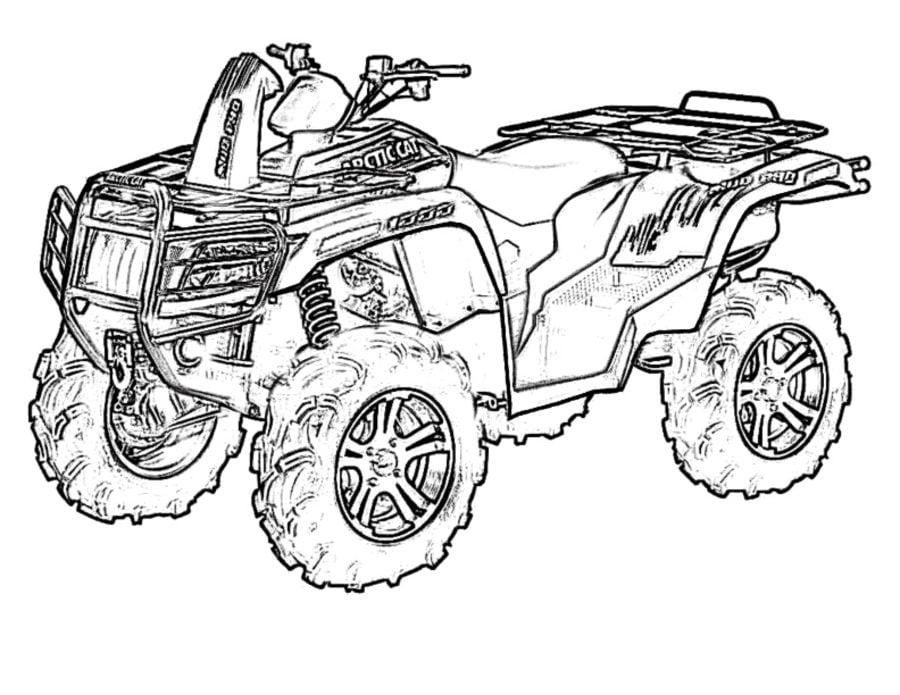 coloring pages of a four wheeler | Three Wheeler Coloring Pages Coloring Pages