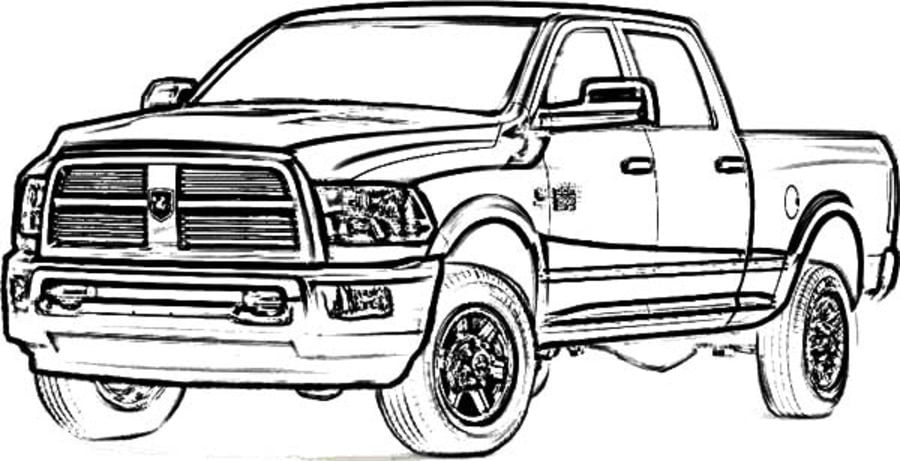 Mud Trucks Coloring Pages Printible
