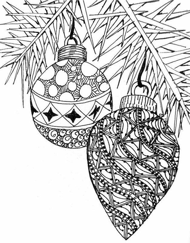 ausmalbilder für erwachsene: weihnachten zum ausdrucken