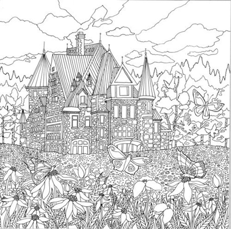 Ausmalbilder f r erwachsene der geheime garten zum ausdrucken kostenlos - Garten zeichnung ...