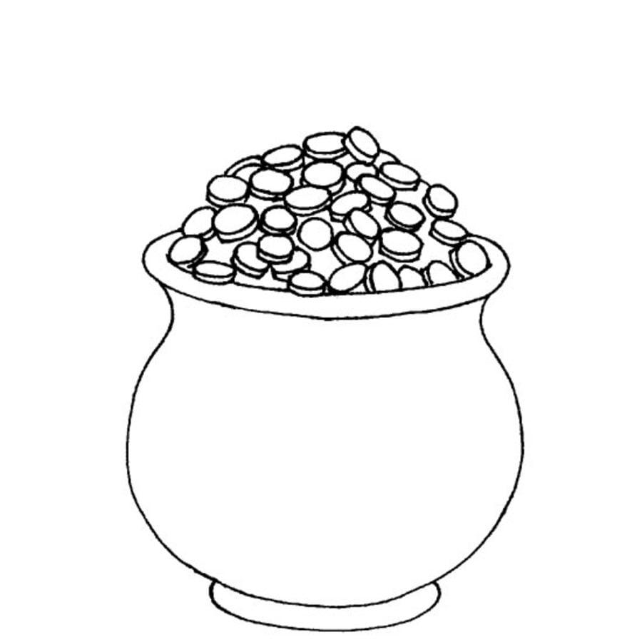 Dibujos para colorear: Pote de Oro imprimible, gratis, para los ...