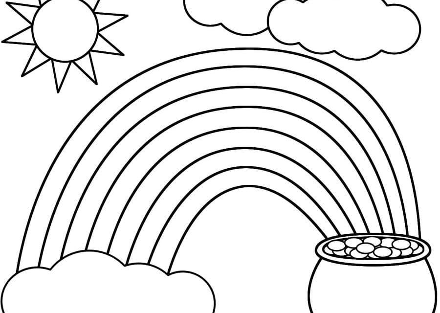 Coloriages arc en ciel imprimable gratuit pour les - Coloriage d arc en ciel ...