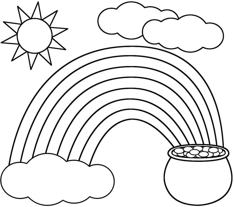 Dibujos Para Colorear Arcoíris Imprimible Gratis Para Los Niños Y