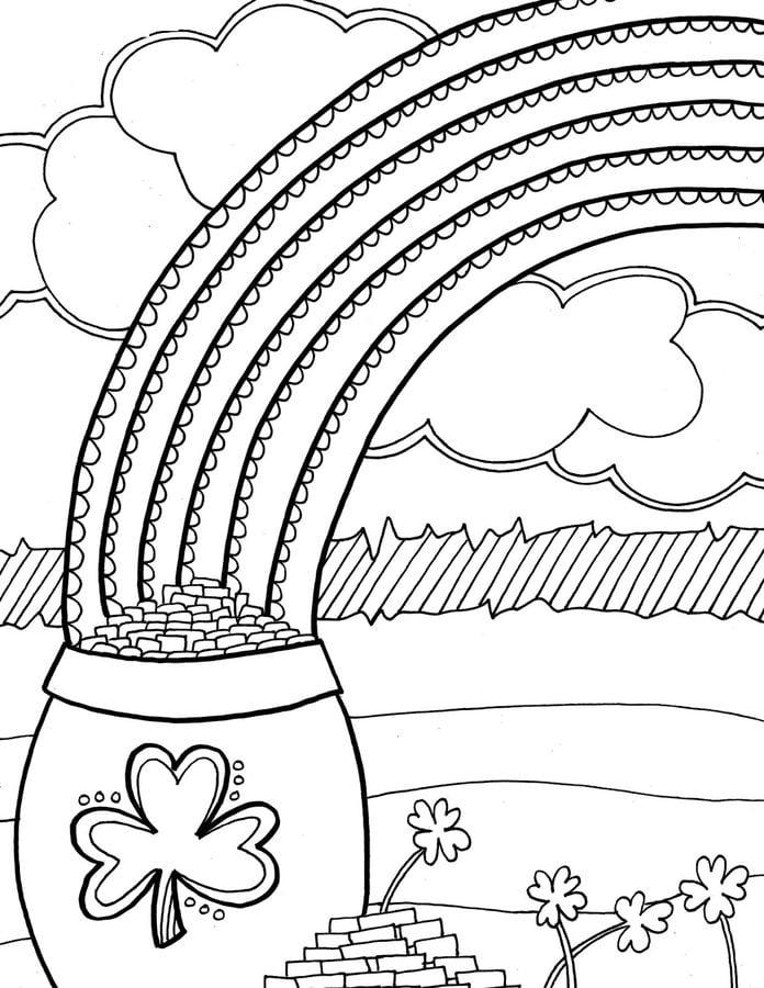 Disegni da colorare disegni da colorare arcobaleno - Shamrock foglio da colorare ...