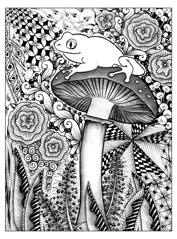 Coloring pages for adults Plants