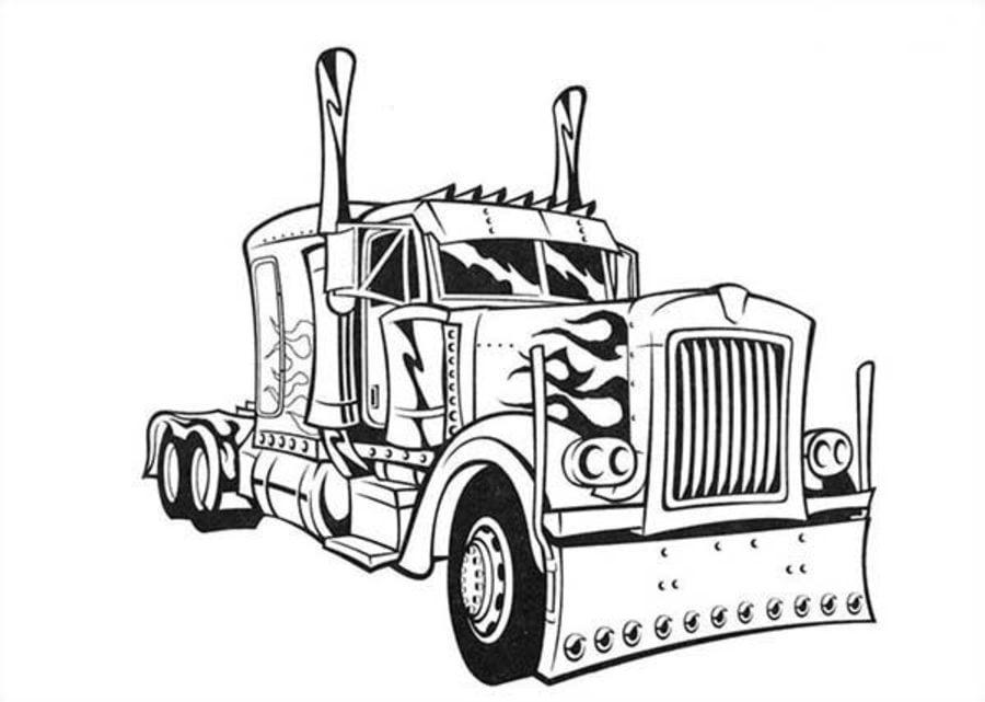 Dibujos para colorear: Camión articulado imprimible, gratis, para ...