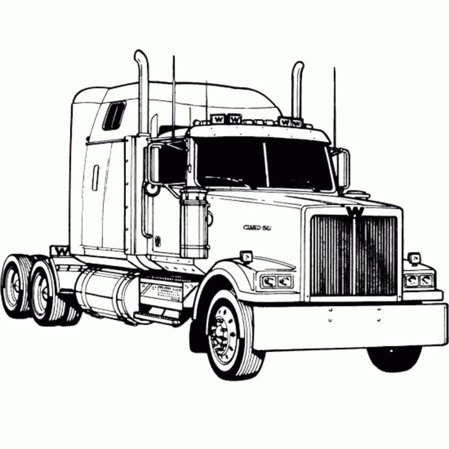 cattle truck coloring pages - photo#19