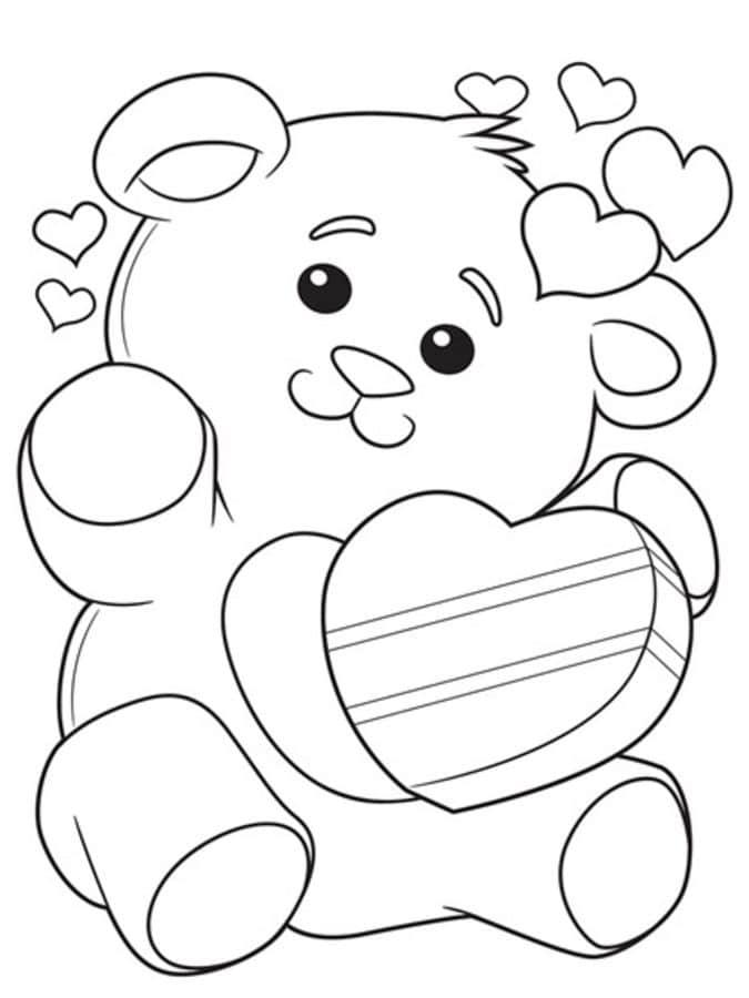 Dibujos para colorear: Osito de peluche imprimible, gratis, para los ...