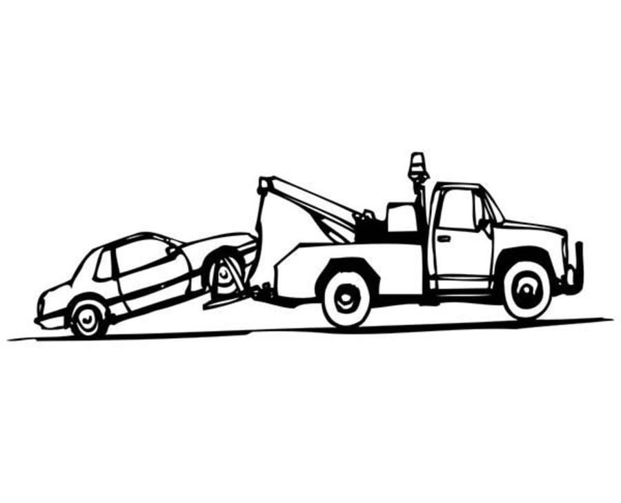 Big Trucks Ford Coloring Page