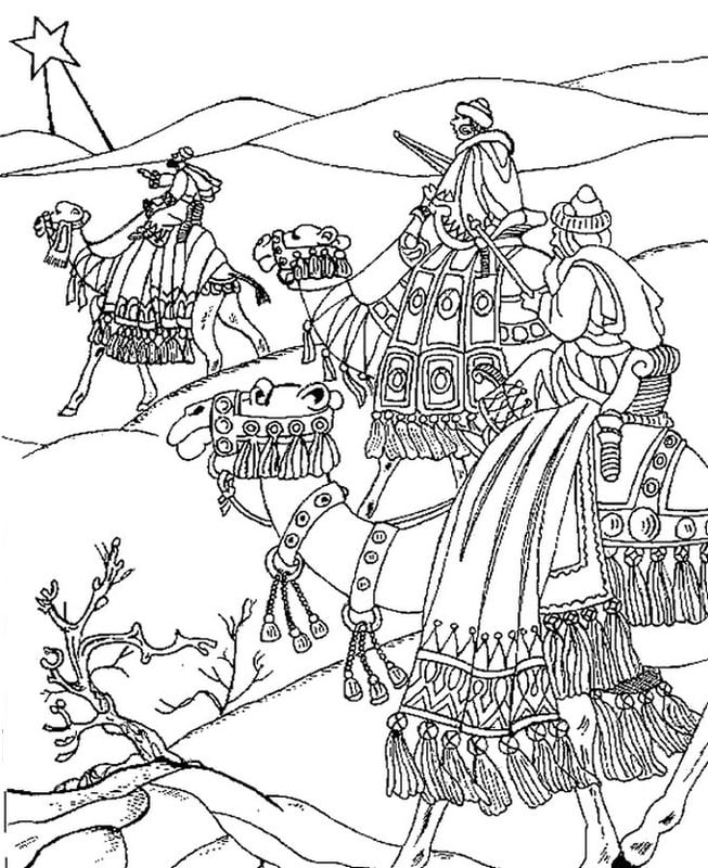Coloring pages for adults: Epiphany, printable, free to ...