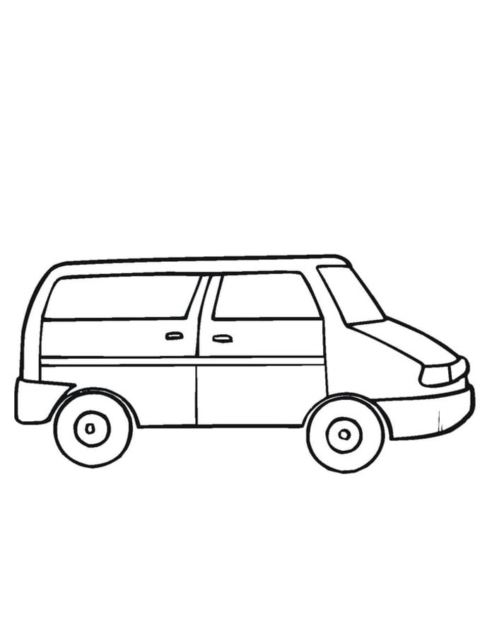 44 Coloring Pages Van Pictures