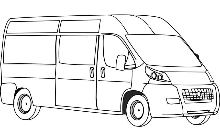 coloriages  camionnette imprimable  gratuit  pour les