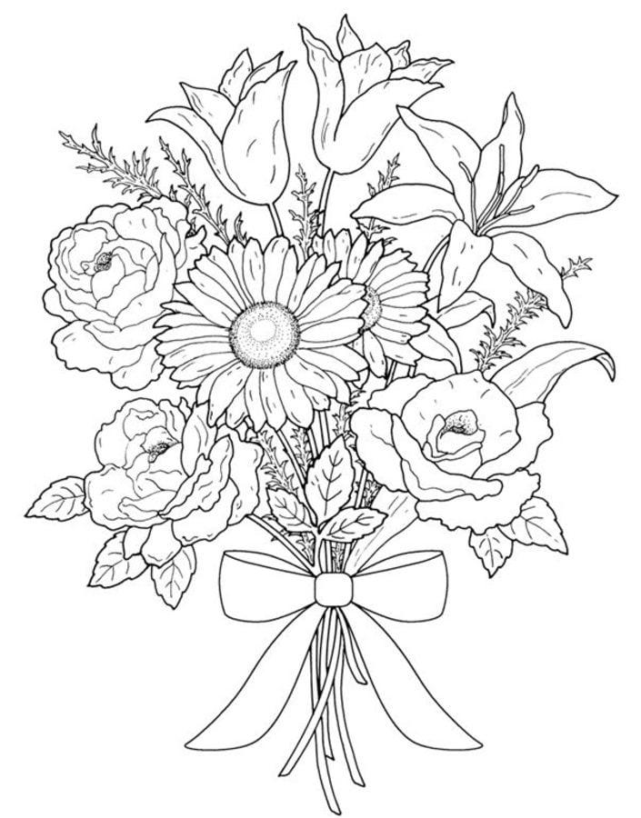 Ausmalbilder Ausmalbilder Blumenstrauß Zum Ausdrucken Kostenlos