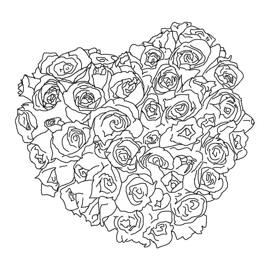 Kolorowanki Bukiet kwiat w do