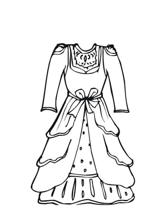 Dibujos Para Colorear Vestido De Novia Imprimible Gratis Para Los