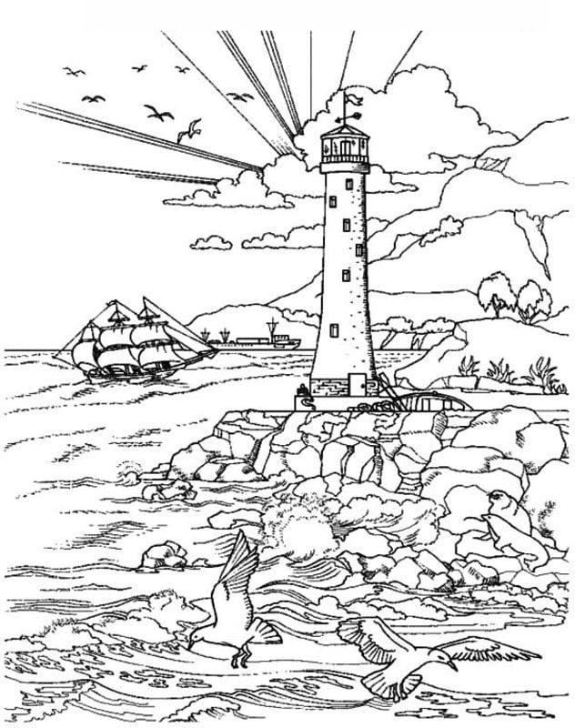 disegni da colorare per adulti  isola stampabile  gratuito