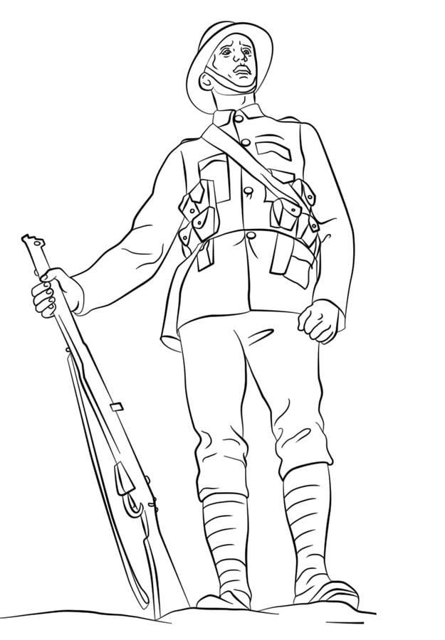 Disegni da colorare: Disegni da colorare: Soldato ...
