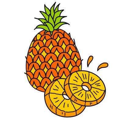 Come Disegnare Ananas Facili Tutorial Passo Per Passo Per Bambini